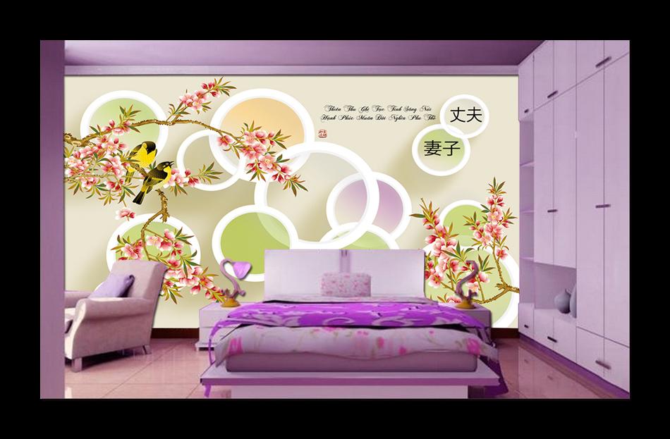 Tranh dán tường Hàn Quốc ở TPHCM | Tranh dán tường đẹp trang trí phòng ngủ, phòng khách