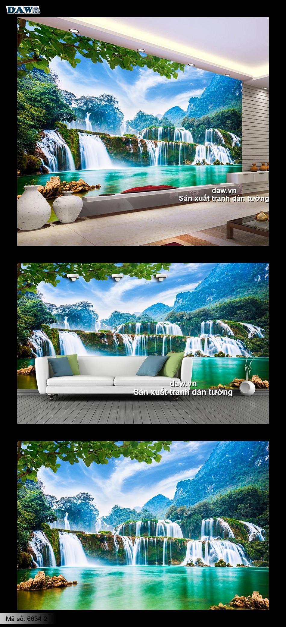 Tranh dán tường phong cảnh, thiên nhiên phong cảnh đẹp, tạo không gian rộng rãi, tạo chiều sâu