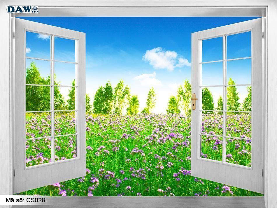 CS028 Tranh dán tường Hàn Quốc | Tranh dán tường cửa sổ CS028