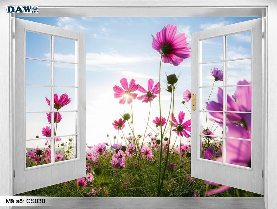 CS030 | Tranh dán tường Hàn Quốc | Tranh dán tường cửa sổ CS030