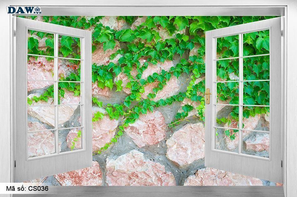 CS036 | Tranh dán tường Hàn Quốc | Tranh dán tường cửa sổ CS036