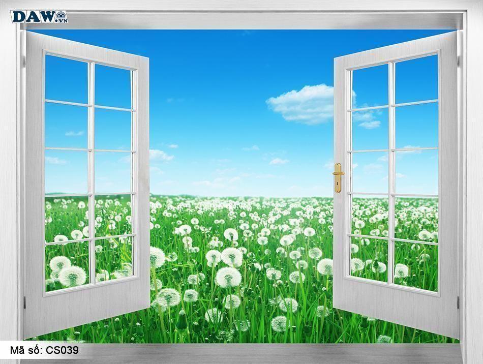 CS039 | Tranh dán tường Hàn Quốc | Tranh dán tường cửa sổ CS039