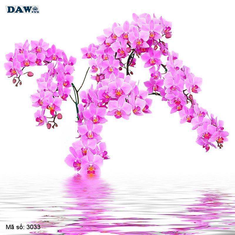 3033 Tranh dán tường Hàn Quốc   Tranh dán tường hoa lá 3033
