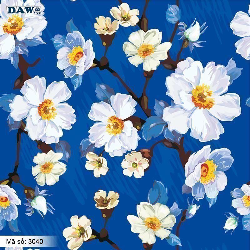 3040 Tranh dán tường Hàn Quốc   Tranh dán tường hoa lá 3040