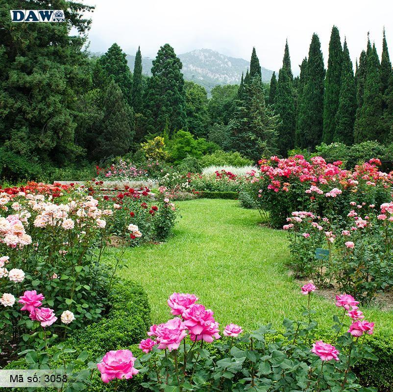 3058 Tranh dán tường Hàn Quốc   Tranh dán tường hoa lá 3058