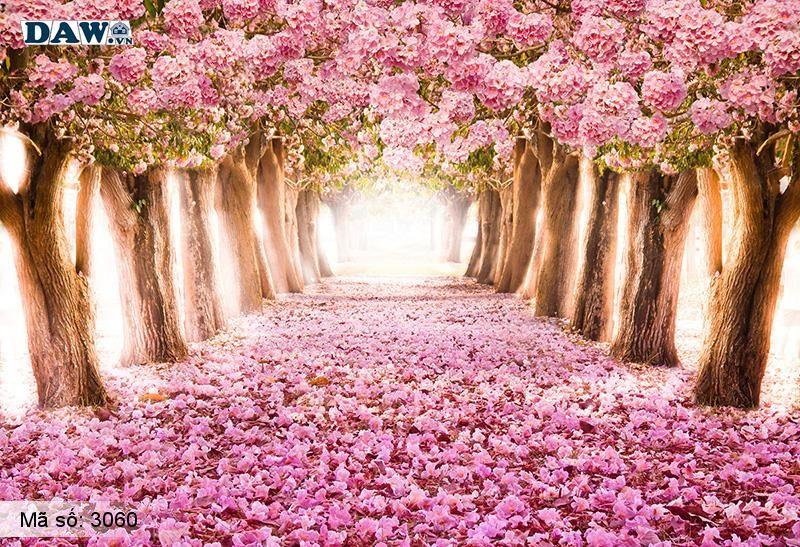 3060 Tranh dán tường Hàn Quốc | Tranh dán tường hoa lá 3060