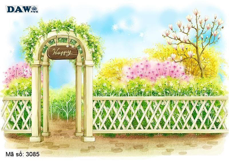 3085 Tranh dán tường Hàn Quốc | Tranh dán tường hoa lá 3085