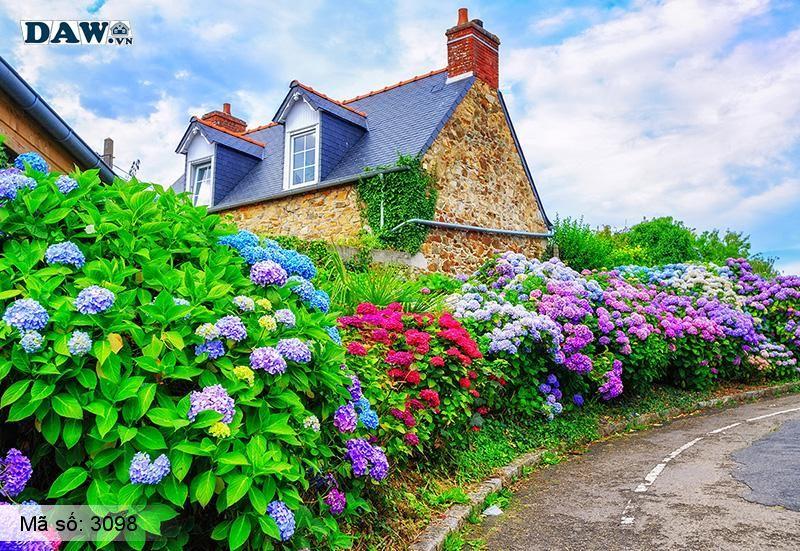 3098 Tranh dán tường Hàn Quốc | Tranh dán tường hoa lá 3098