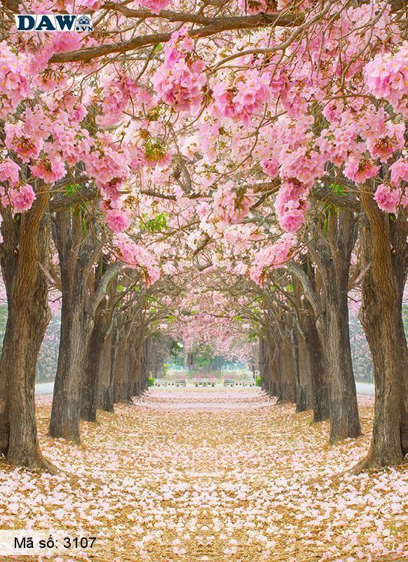 3107 Tranh dán tường Hàn Quốc | Tranh dán tường hoa lá 3107