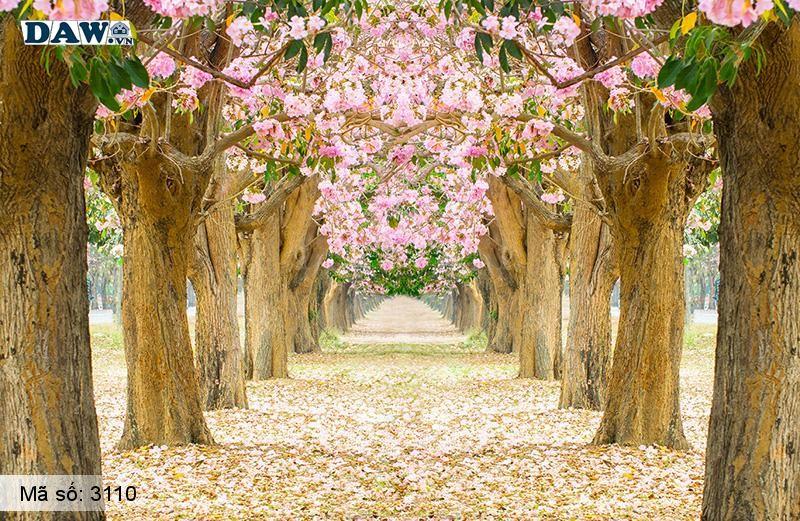 3110 Tranh dán tường Hàn Quốc | Tranh dán tường hoa lá 3110