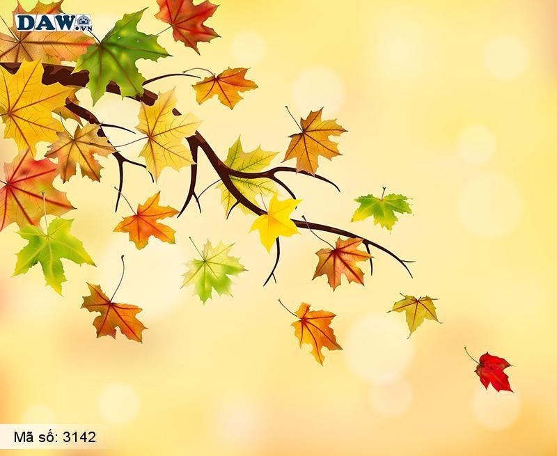 3142 Tranh dán tường Hàn Quốc | Tranh dán tường hoa lá 3142