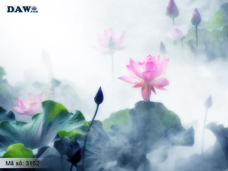 3152 Tranh dán tường Hàn Quốc | Tranh dán tường hoa lá 3152