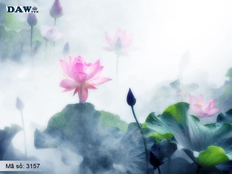 3157 Tranh dán tường Hàn Quốc | Tranh dán tường hoa lá 3157