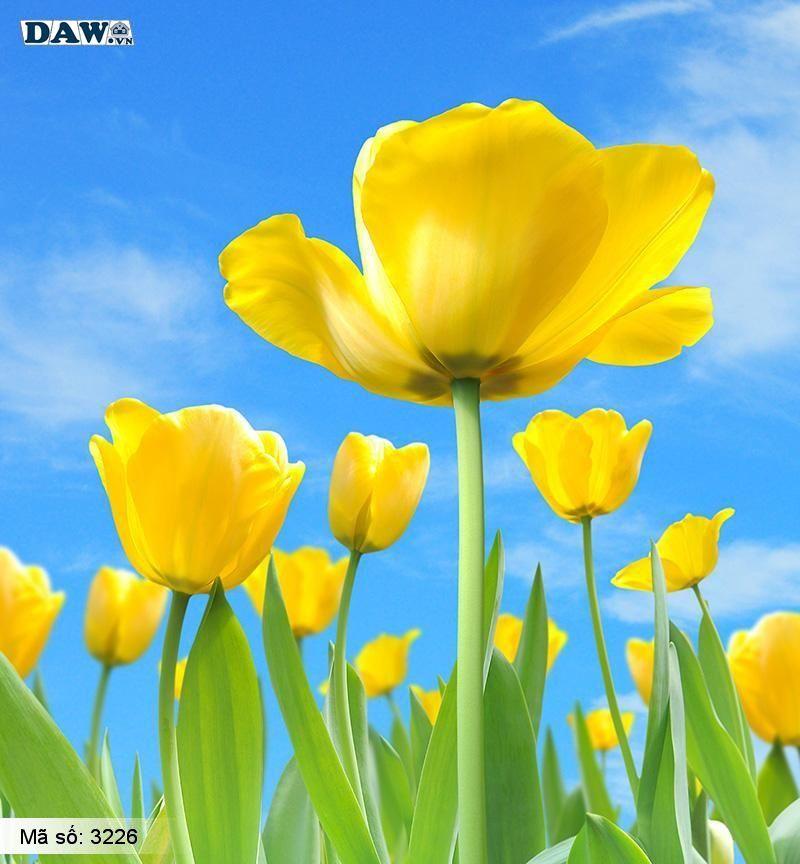 3226 Tranh dán tường Hàn Quốc | Tranh dán tường hoa lá 3226