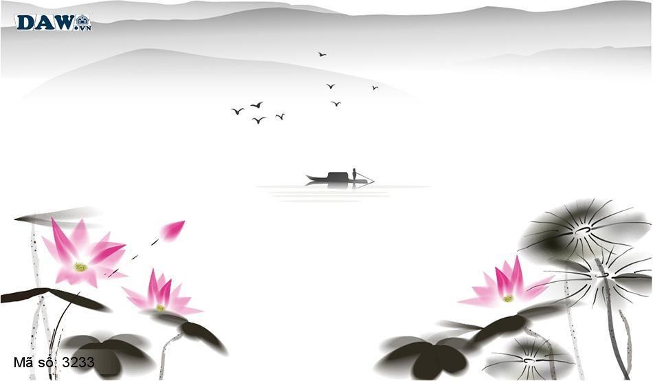 3233 Tranh dán tường Hàn Quốc | Tranh dán tường hoa lá 3233