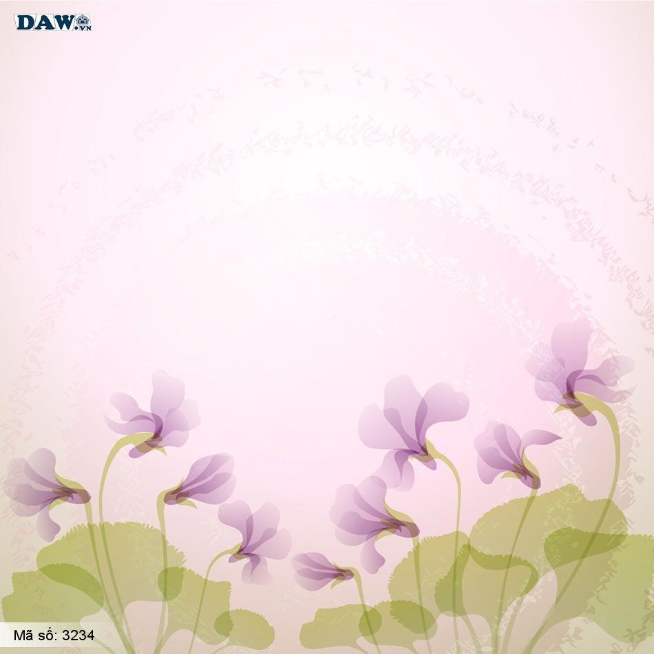 3234 Tranh dán tường Hàn Quốc | Tranh dán tường hoa lá 3234