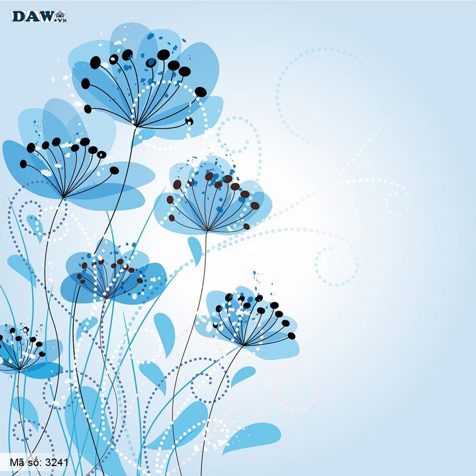 3241 Tranh dán tường Hàn Quốc | Tranh dán tường hoa lá 3241