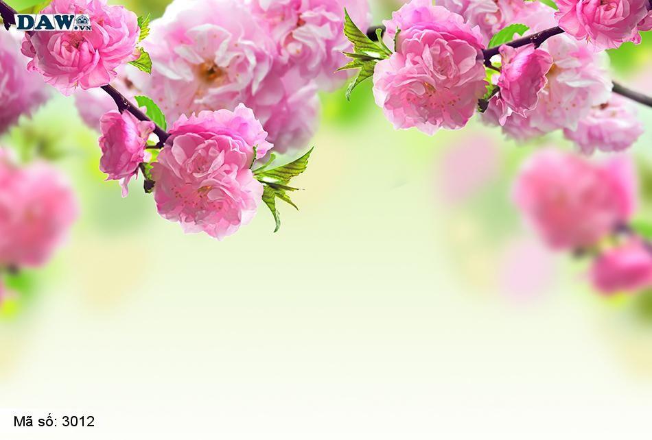 3012 Tranh dán tường Hàn Quốc | Tranh dán tường hoa lá 3012