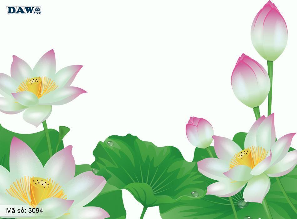 3094 Tranh dán tường Hàn Quốc | Tranh dán tường hoa lá 3094