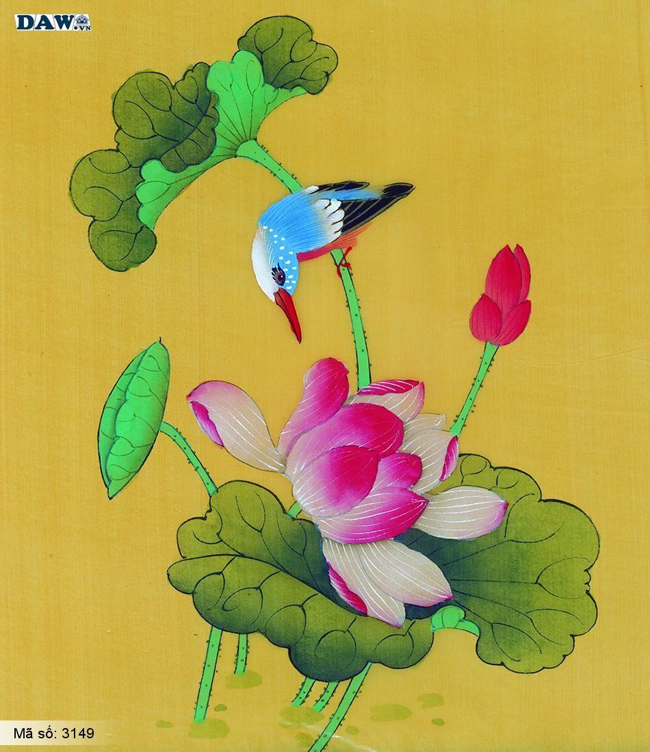 3149 Tranh dán tường Hàn Quốc | Tranh dán tường hoa lá 3149
