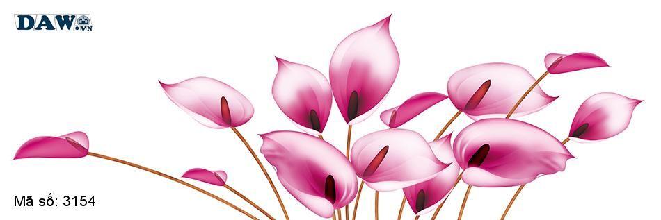 3154 Tranh dán tường Hàn Quốc | Tranh dán tường hoa lá 3154