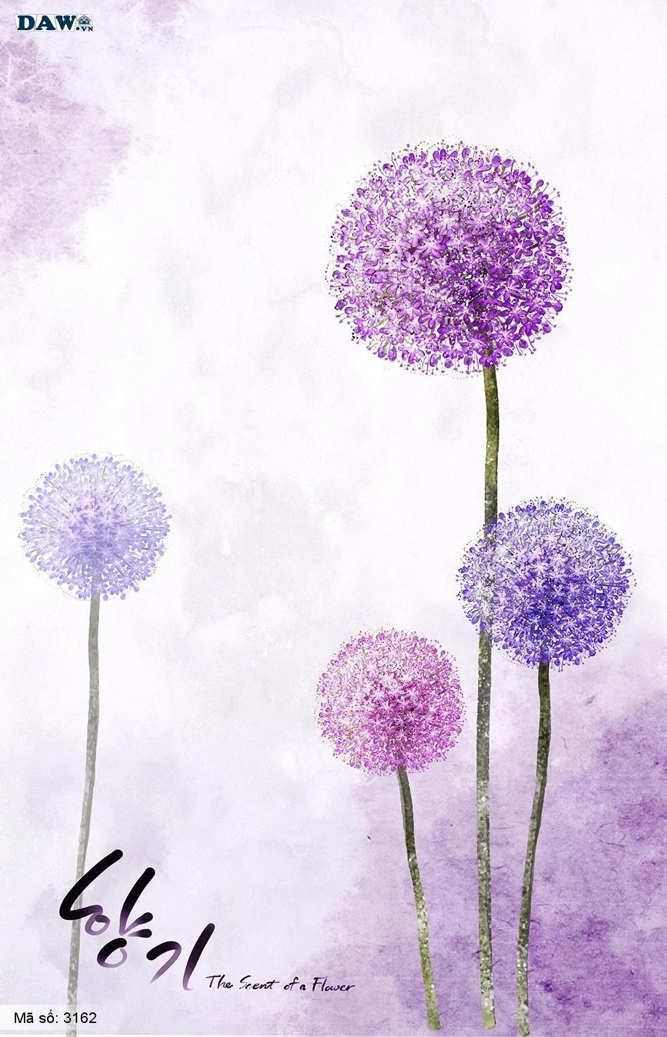 3162 Tranh dán tường Hàn Quốc | Tranh dán tường hoa lá 3162