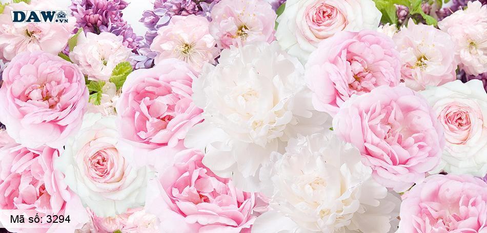 3294 Tranh dán tường Hàn Quốc | Tranh dán tường hoa lá 3294