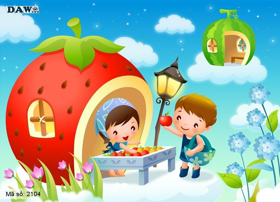 2104 Tranh dán tường Hàn Quốc | Tranh dán tường Trẻ em - Teen 2104