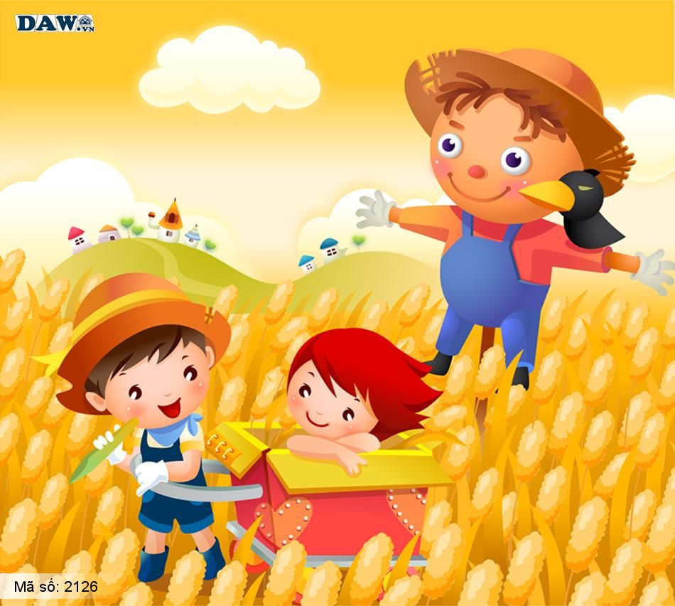 2126 Tranh dán tường Hàn Quốc | Tranh dán tường Trẻ em - Teen 2126