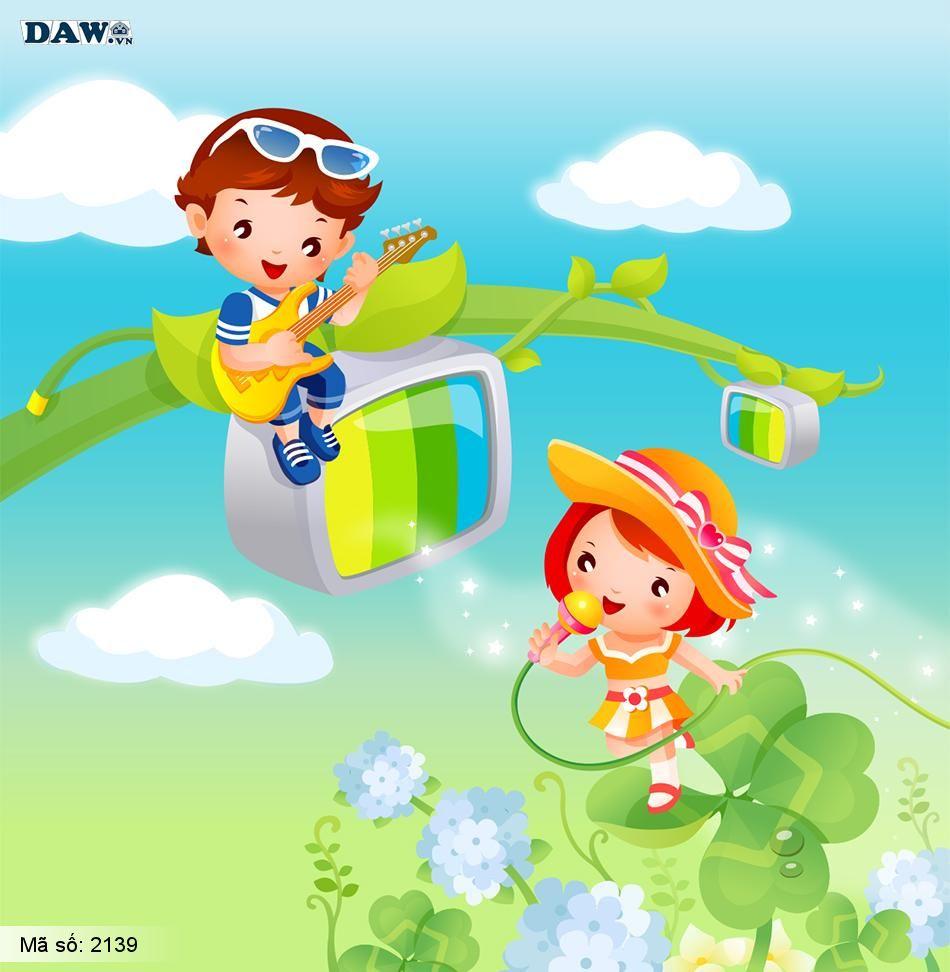 2139 Tranh dán tường Hàn Quốc | Tranh dán tường Trẻ em - Teen 2139