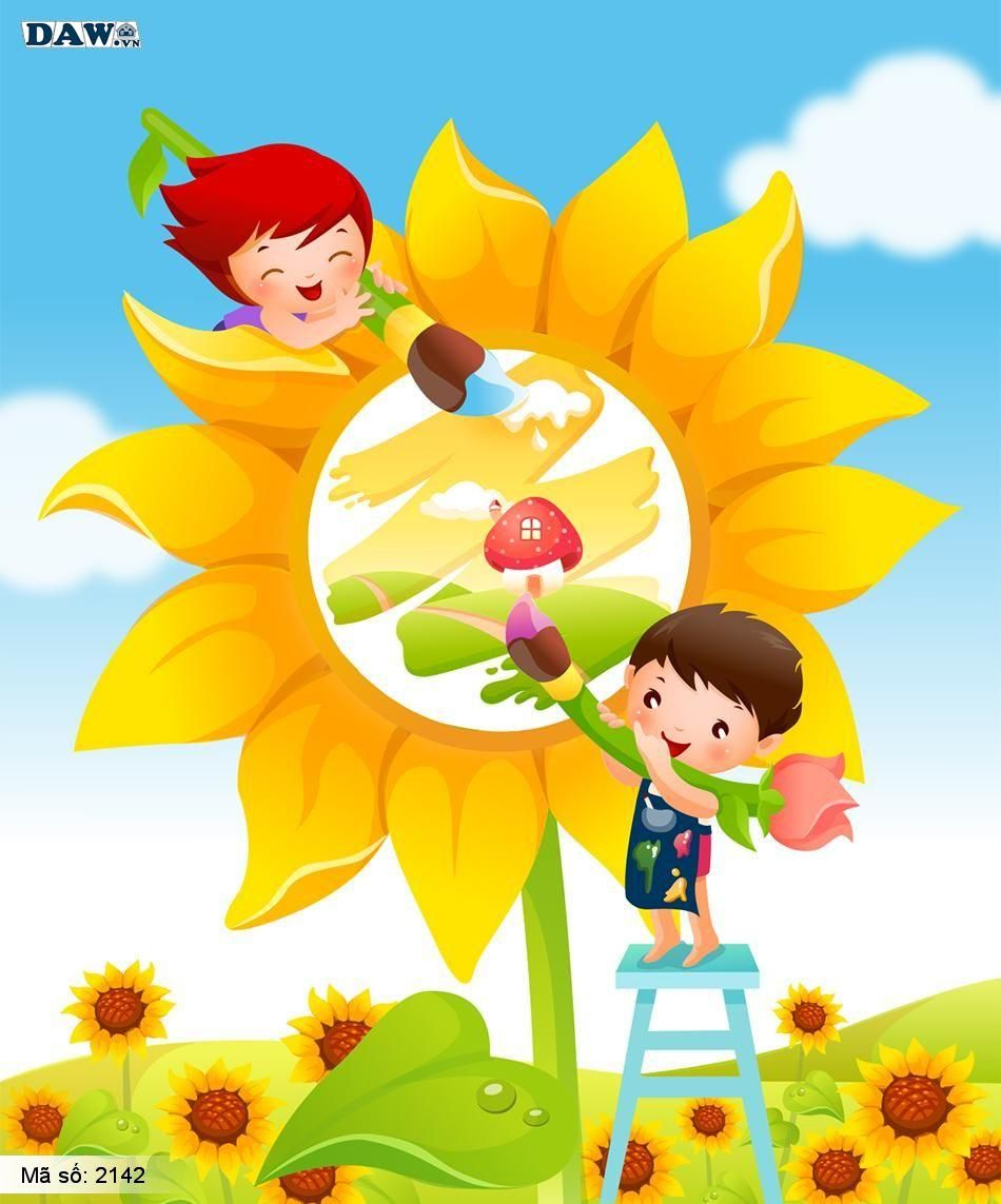 2142 Tranh dán tường Hàn Quốc | Tranh dán tường Trẻ em - Teen 2142
