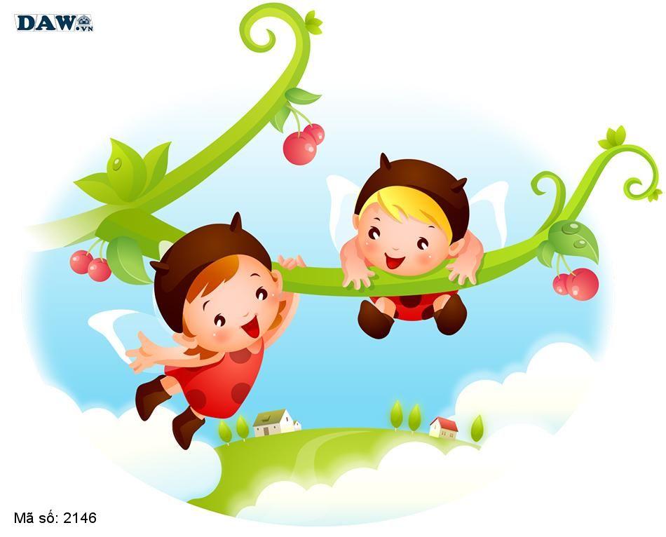 2146 Tranh dán tường Hàn Quốc | Tranh dán tường Trẻ em - Teen 2146
