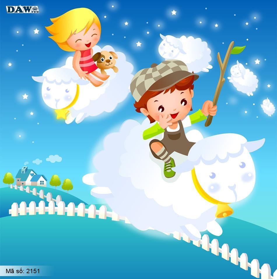 2151 Tranh dán tường Hàn Quốc | Tranh dán tường Trẻ em - Teen 2151