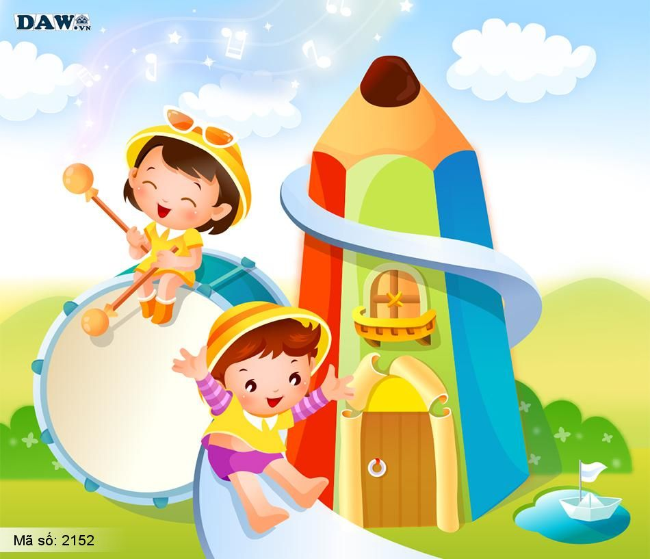 2152 Tranh dán tường Hàn Quốc | Tranh dán tường Trẻ em - Teen 2152