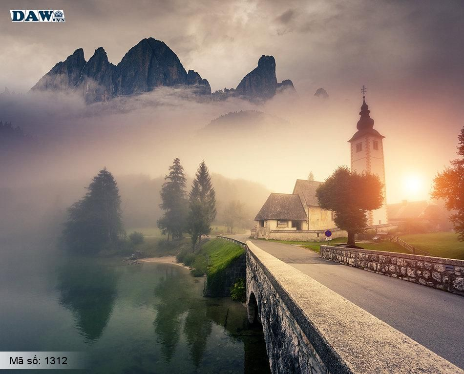 1312 Tranh dán tường Hàn Quốc | Tranh dán tường Thiên Nhiên - Phong Cảnh 1312