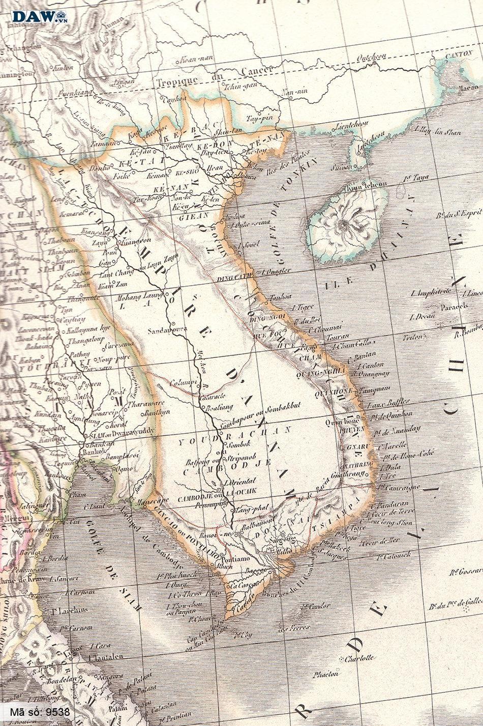 9538 Tranh dán tường Hàn Quốc | Tranh dán tường Bản Đồ 9538