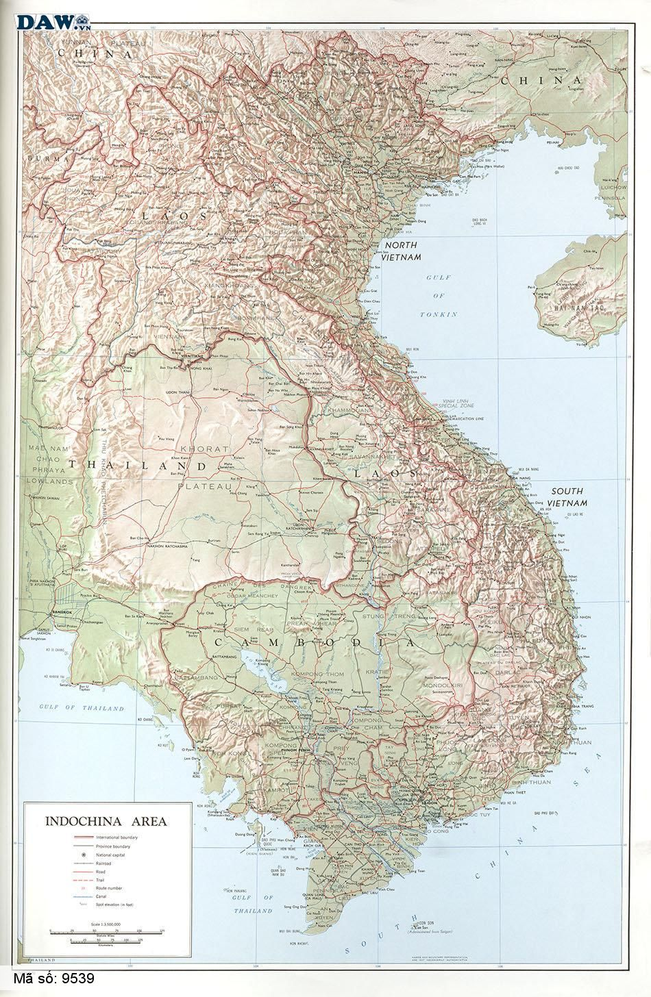 9539 Tranh dán tường Hàn Quốc | Tranh dán tường Bản Đồ 9539