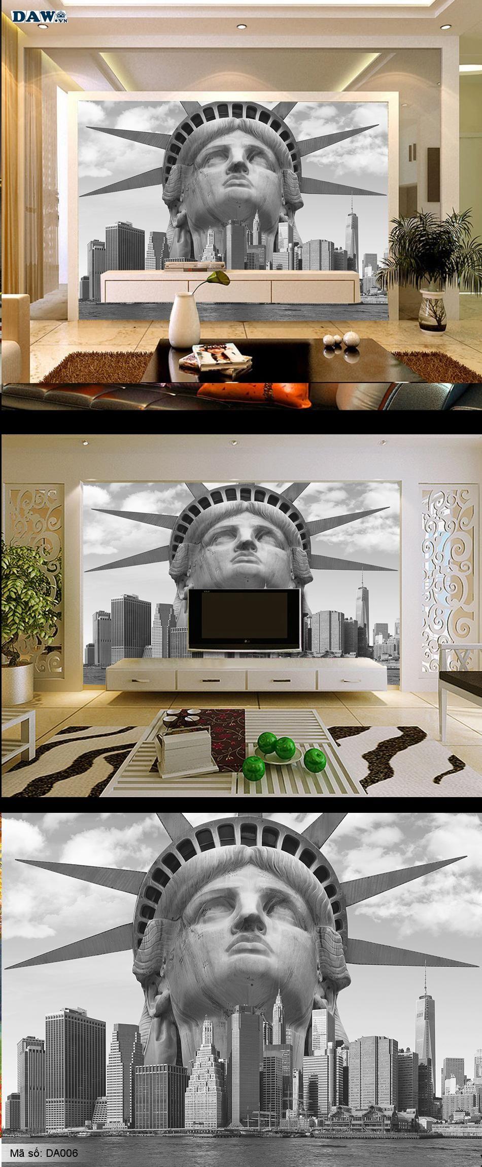 Thành phố New York, tượng Nữ Thần Tự Do, New York City, thành phố đẹp, tranh dán tường thành phố DA006