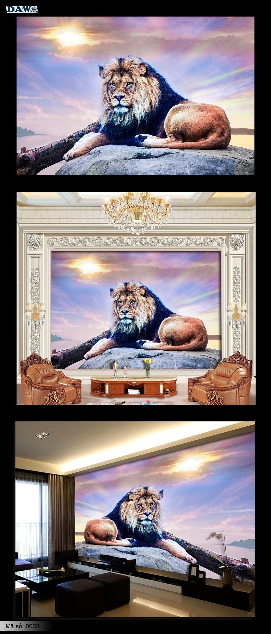 Tranh dán tường động vật, tranh dán tường sư tử, tranh sư tử, sư tử đẹp 0003