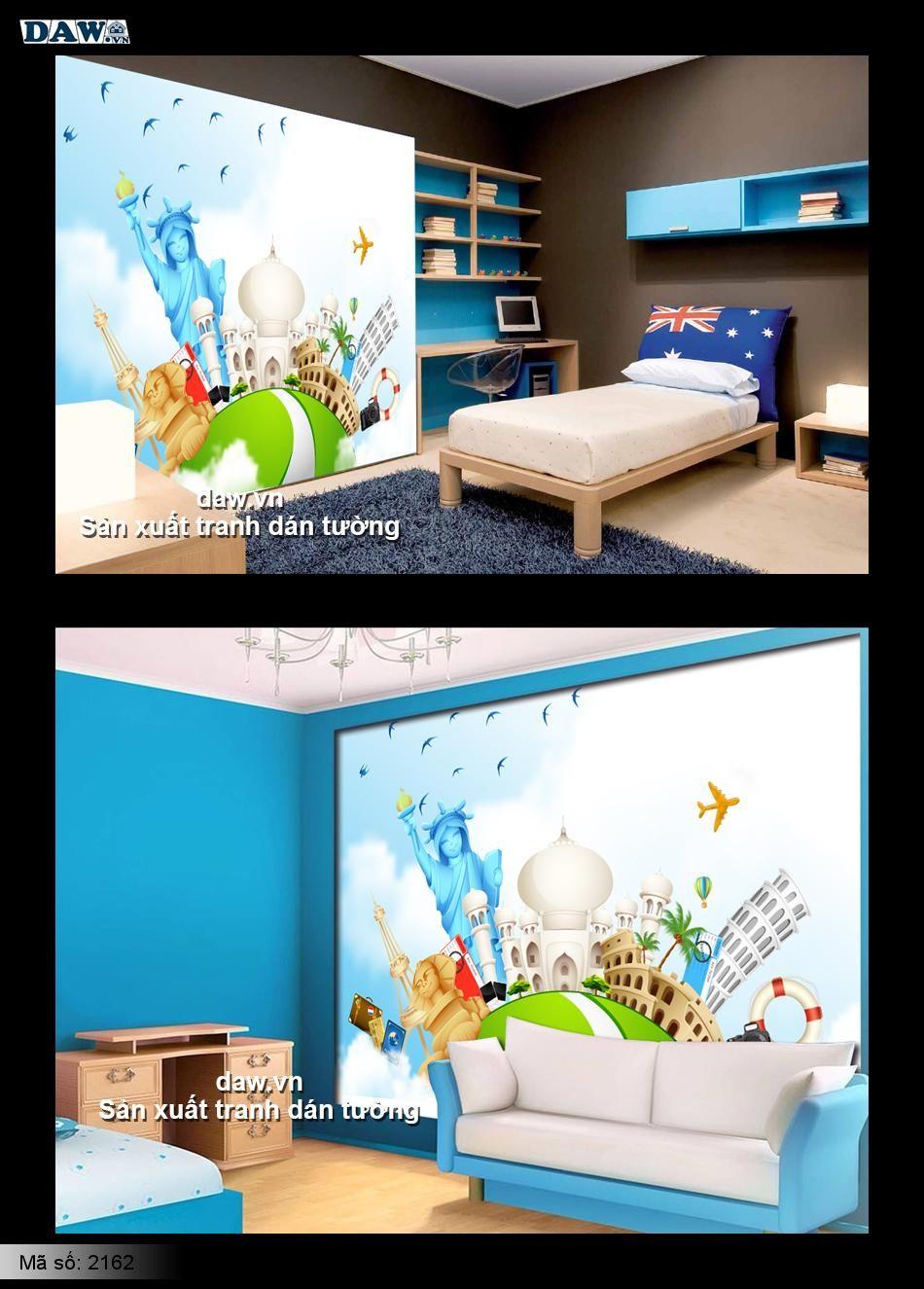 2162 | Tranh dán tường cho bé | tranh dán tường cho trẻ em | Tranh dán tường giá rẻ