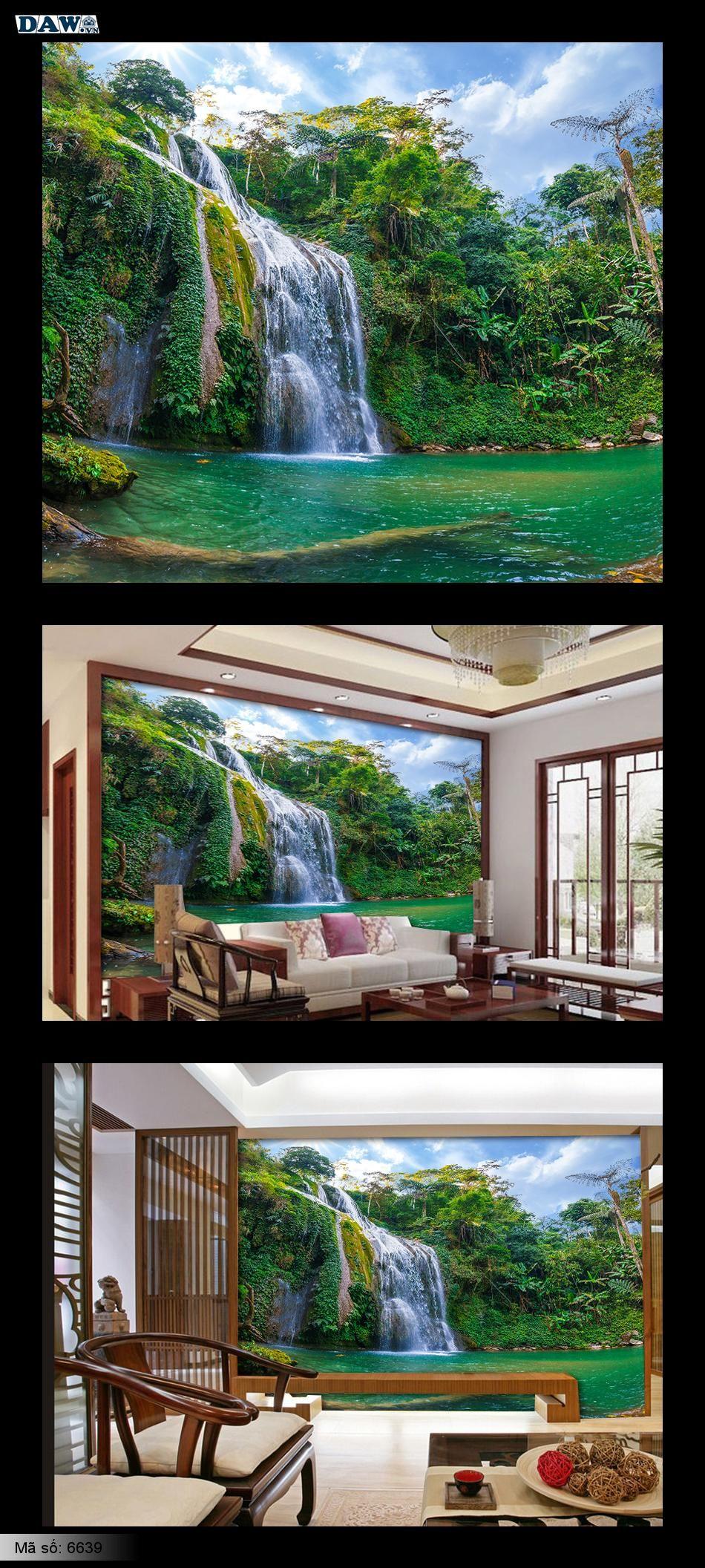 Tranh dán tường thác nước, thác nước đẹp, tranh tường đẹp 6639