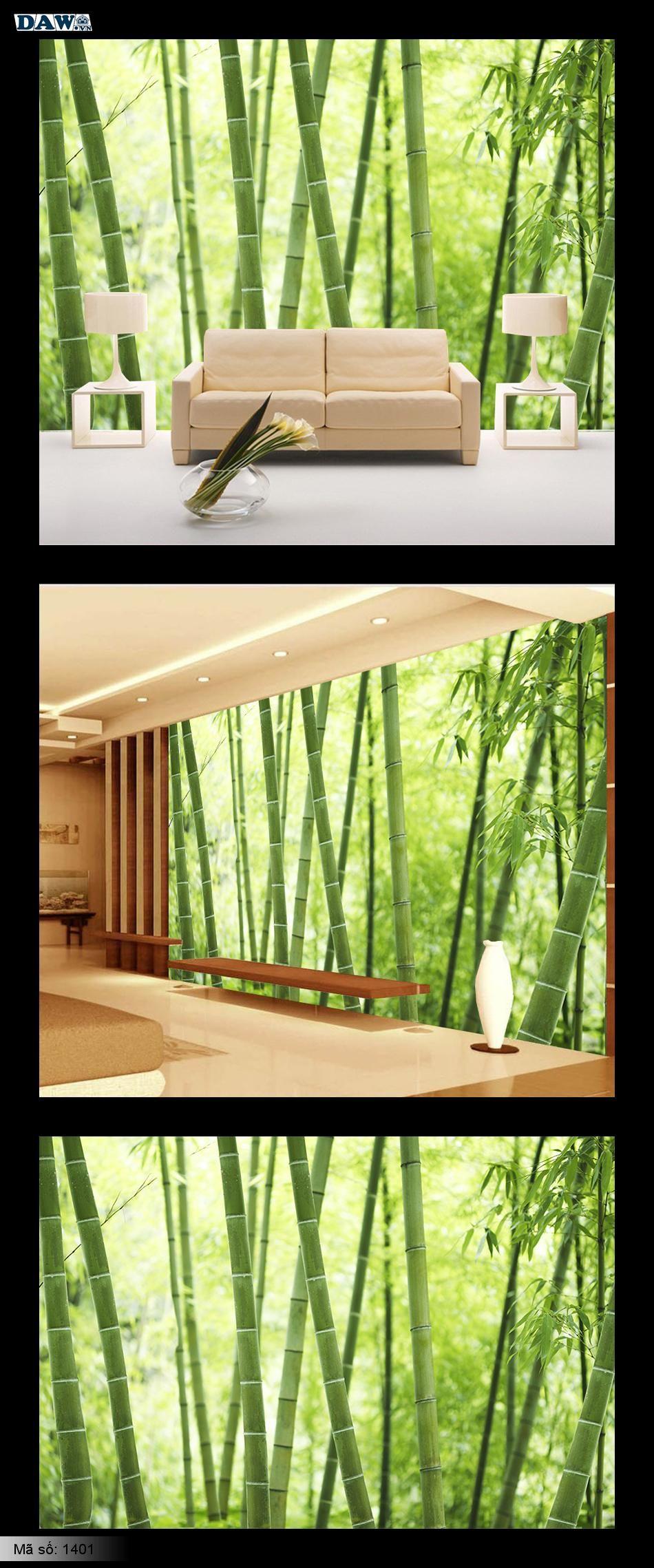 Tranh tre, rừng tre,  dán tường cây tre, lùm tre, bụi tre, tre Việt Nam, tranh dán tường hình cây tre 1401