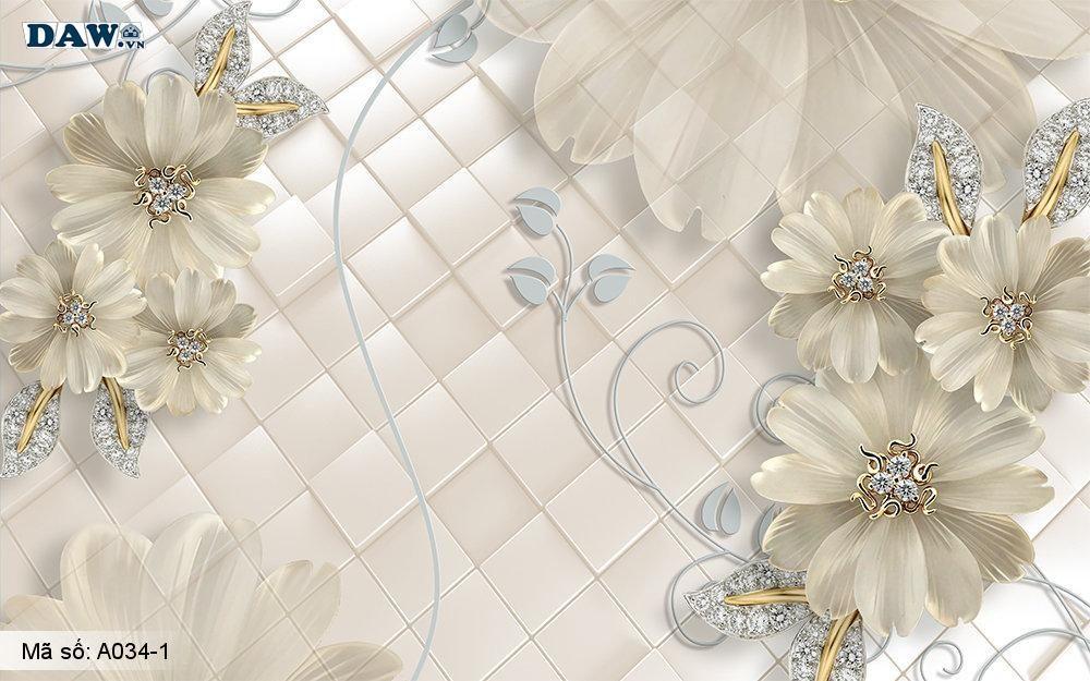 Sức hút của tranh dán tường 3D giả ngọc, mẹo nhỏ để lựa chọn tranh dán tường 3D ngọc nổi đẹp lung linh