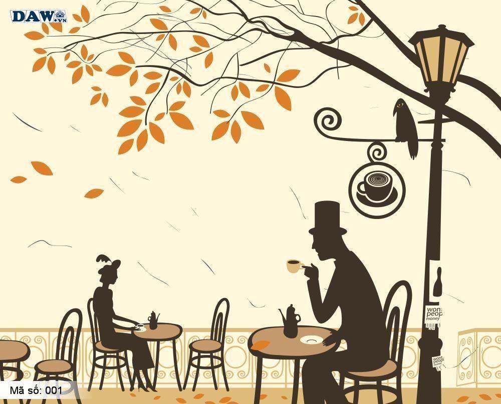 Tranh dán tường cổ điển, tranh dán tường Hàn Quốc 001, khu phố, bàn tiệc, phong cảnh, con người