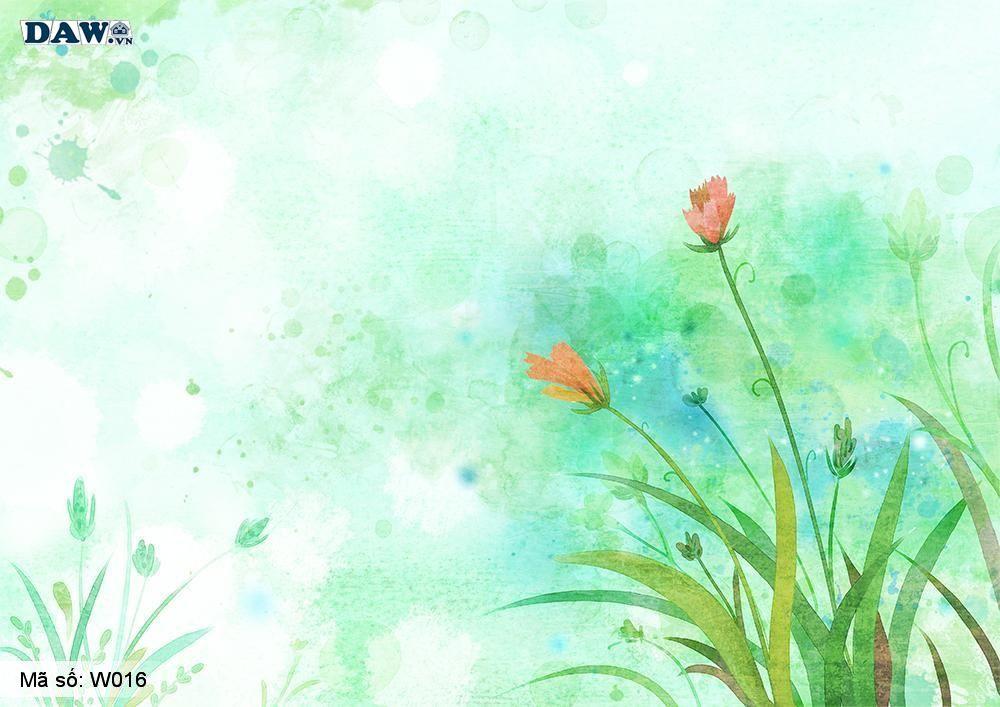 Tranh dán tường 3D phong cảnh thiên nhiên, tranh vẽ công viên, vườn cây W016