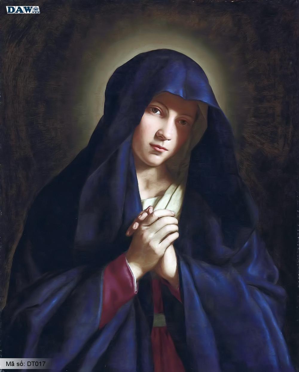 Tranh dán tường Hàn Quốc, hình ảnh về thiên chúa giáo, đức mẹ Maria, giáo xứ, chúa Giê su DT017